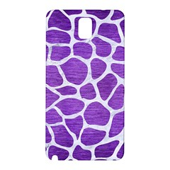 Skin1 White Marble & Purple Brushed Metal (r) Samsung Galaxy Note 3 N9005 Hardshell Back Case by trendistuff