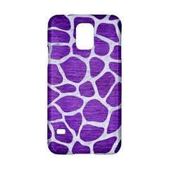 Skin1 White Marble & Purple Brushed Metal (r) Samsung Galaxy S5 Hardshell Case  by trendistuff
