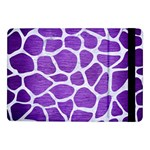 SKIN1 WHITE MARBLE & PURPLE BRUSHED METAL (R) Samsung Galaxy Tab Pro 10.1  Flip Case Front