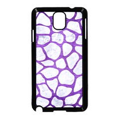Skin1 White Marble & Purple Brushed Metal Samsung Galaxy Note 3 Neo Hardshell Case (black) by trendistuff