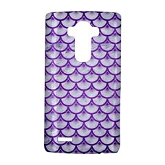 Scales3 White Marble & Purple Brushed Metal (r) Lg G4 Hardshell Case by trendistuff