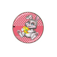 Illustration Rabbit Easter Hat Clip Ball Marker (4 Pack)