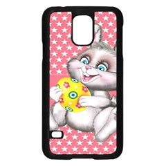 Illustration Rabbit Easter Samsung Galaxy S5 Case (black) by Sapixe