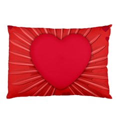 Background Texture Heart Love Pillow Case by Sapixe