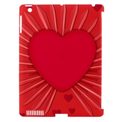 Background Texture Heart Love Apple Ipad 3/4 Hardshell Case (compatible With Smart Cover) by Sapixe
