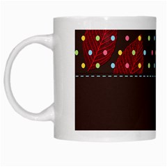 Design Background Reason Texture White Mugs