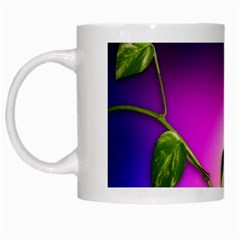 Leaves Green Leaves Background White Mugs