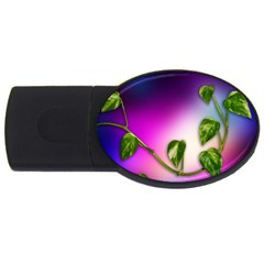Leaves Green Leaves Background Usb Flash Drive Oval (2 Gb)