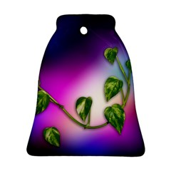 Leaves Green Leaves Background Ornament (bell) by Sapixe