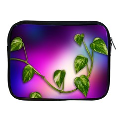 Leaves Green Leaves Background Apple Ipad 2/3/4 Zipper Cases by Sapixe