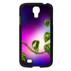 Leaves Green Leaves Background Samsung Galaxy S4 I9500/ I9505 Case (black) by Sapixe