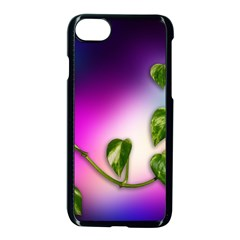 Leaves Green Leaves Background Apple Iphone 8 Seamless Case (black)