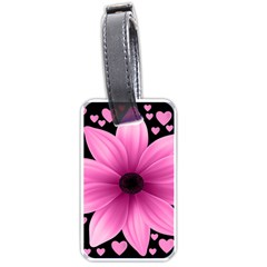 Flower Plant Floral Petal Nature Luggage Tags (one Side)