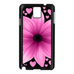 Flower Plant Floral Petal Nature Samsung Galaxy Note 3 N9005 Case (black) by Sapixe