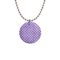 Scales2 White Marble & Purple Brushed Metal (r) Button Necklaces by trendistuff