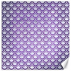 Scales2 White Marble & Purple Brushed Metal (r) Canvas 16  X 16   by trendistuff