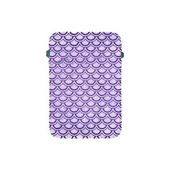 Scales2 White Marble & Purple Brushed Metal (r) Apple Ipad Mini Protective Soft Cases by trendistuff