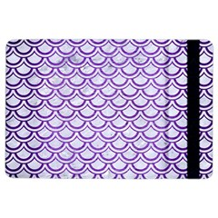Scales2 White Marble & Purple Brushed Metal (r) Ipad Air 2 Flip by trendistuff