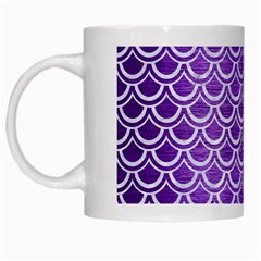 Scales2 White Marble & Purple Brushed Metal White Mugs by trendistuff