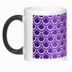 Scales2 White Marble & Purple Brushed Metal Morph Mugs by trendistuff