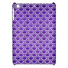 Scales2 White Marble & Purple Brushed Metal Apple Ipad Mini Hardshell Case by trendistuff