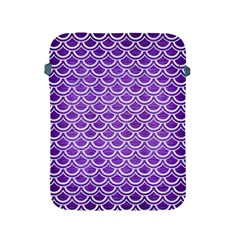 Scales2 White Marble & Purple Brushed Metal Apple Ipad 2/3/4 Protective Soft Cases by trendistuff