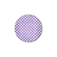Scales1 White Marble & Purple Brushed Metal (r) Golf Ball Marker (10 Pack) by trendistuff