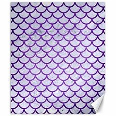 Scales1 White Marble & Purple Brushed Metal (r) Canvas 20  X 24