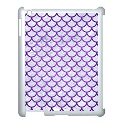 Scales1 White Marble & Purple Brushed Metal (r) Apple Ipad 3/4 Case (white) by trendistuff