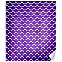 Scales1 White Marble & Purple Brushed Metal Canvas 20  X 24