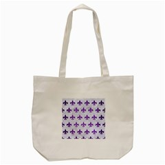 Royal1 White Marble & Purple Brushed Metal Tote Bag (cream) by trendistuff