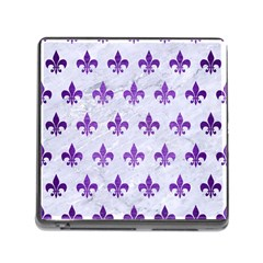 Royal1 White Marble & Purple Brushed Metal Memory Card Reader (square) by trendistuff