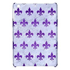 Royal1 White Marble & Purple Brushed Metal Apple Ipad Mini Hardshell Case by trendistuff