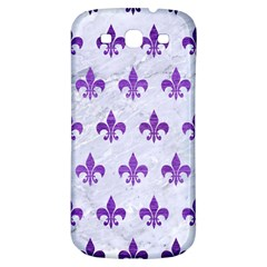 Royal1 White Marble & Purple Brushed Metal Samsung Galaxy S3 S Iii Classic Hardshell Back Case by trendistuff