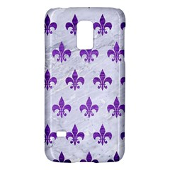 Royal1 White Marble & Purple Brushed Metal Galaxy S5 Mini by trendistuff