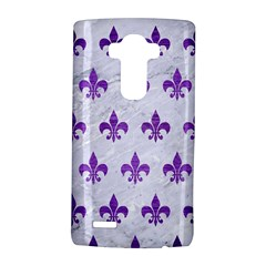 Royal1 White Marble & Purple Brushed Metal Lg G4 Hardshell Case by trendistuff