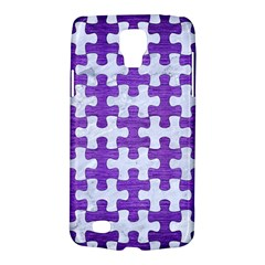 Puzzle1 White Marble & Purple Brushed Metal Galaxy S4 Active by trendistuff