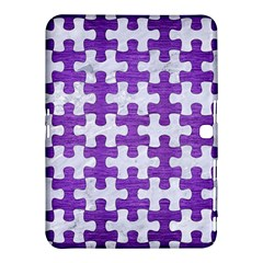 Puzzle1 White Marble & Purple Brushed Metal Samsung Galaxy Tab 4 (10 1 ) Hardshell Case  by trendistuff