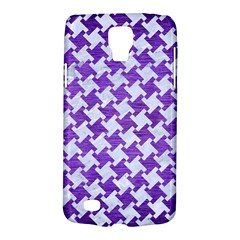 Houndstooth2 White Marble & Purple Brushed Metal Galaxy S4 Active by trendistuff