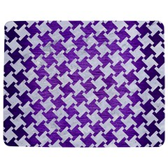 Houndstooth2 White Marble & Purple Brushed Metal Jigsaw Puzzle Photo Stand (rectangular)