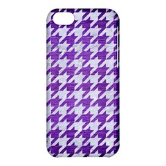 Houndstooth1 White Marble & Purple Brushed Metal Apple Iphone 5c Hardshell Case by trendistuff