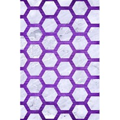 Hexagon2 White Marble & Purple Brushed Metal (r) 5 5  X 8 5  Notebooks by trendistuff