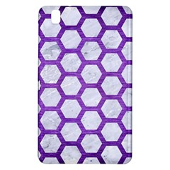 Hexagon2 White Marble & Purple Brushed Metal (r) Samsung Galaxy Tab Pro 8 4 Hardshell Case