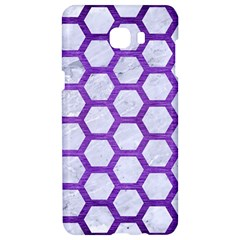 Hexagon2 White Marble & Purple Brushed Metal (r) Samsung C9 Pro Hardshell Case  by trendistuff