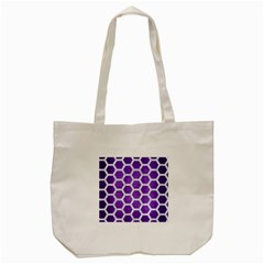 Hexagon2 White Marble & Purple Brushed Metal Tote Bag (cream) by trendistuff