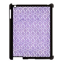 Hexagon1 White Marble & Purple Brushed Metal (r) Apple Ipad 3/4 Case (black) by trendistuff