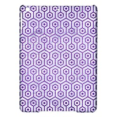 Hexagon1 White Marble & Purple Brushed Metal (r) Ipad Air Hardshell Cases by trendistuff