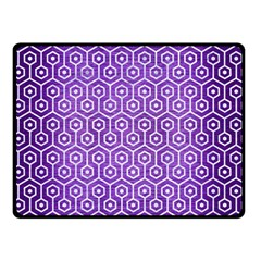 Hexagon1 White Marble & Purple Brushed Metal Double Sided Fleece Blanket (small)  by trendistuff