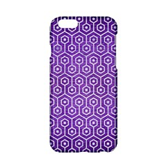 Hexagon1 White Marble & Purple Brushed Metal Apple Iphone 6/6s Hardshell Case by trendistuff