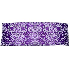 Damask2 White Marble & Purple Brushed Metal Body Pillow Case Dakimakura (two Sides) by trendistuff